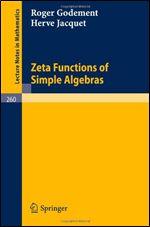 Book cover Zeta Functions of Simple Algebras